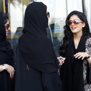 "Princess Ameerah al-Taweel (R), chief executive of Saudi-based Time Entertainment Holding, speaks with women at Burj Al Arab hotel in Dubai March 9, 2014. While female company directors are still a rarity in the Middle East, the region's growing wealth, rising education standards for women and government efforts to promote more equal opportunities should help make it easier for women to crack the ""glass ceiling"", or perceived discrimination against female executives, in future. Women accounted for 9.8 percent of corporate board seats across the world in 2011, the latest data from U.S.-based research firm GMI Ratings shows. But in the Gulf Cooperation Council - the group of six wealthy oil-exporting countries - they accounted for just 1.5 percent, according to the Dubai-based Institute for Corporate Governance. To match Feature MIDDLEEAST-WOMEN/BUSINESS   Picture taken March 9, 2014. REUTERS/Ahmed Jadallah (UNITED ARAB EMIRATES - Tags: BUSINESS SOCIETY) - RTR3LT4Z"
