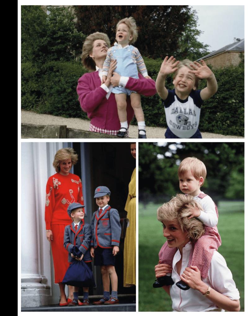 Princesa Diana, William e Harry - o legado de Lady Di