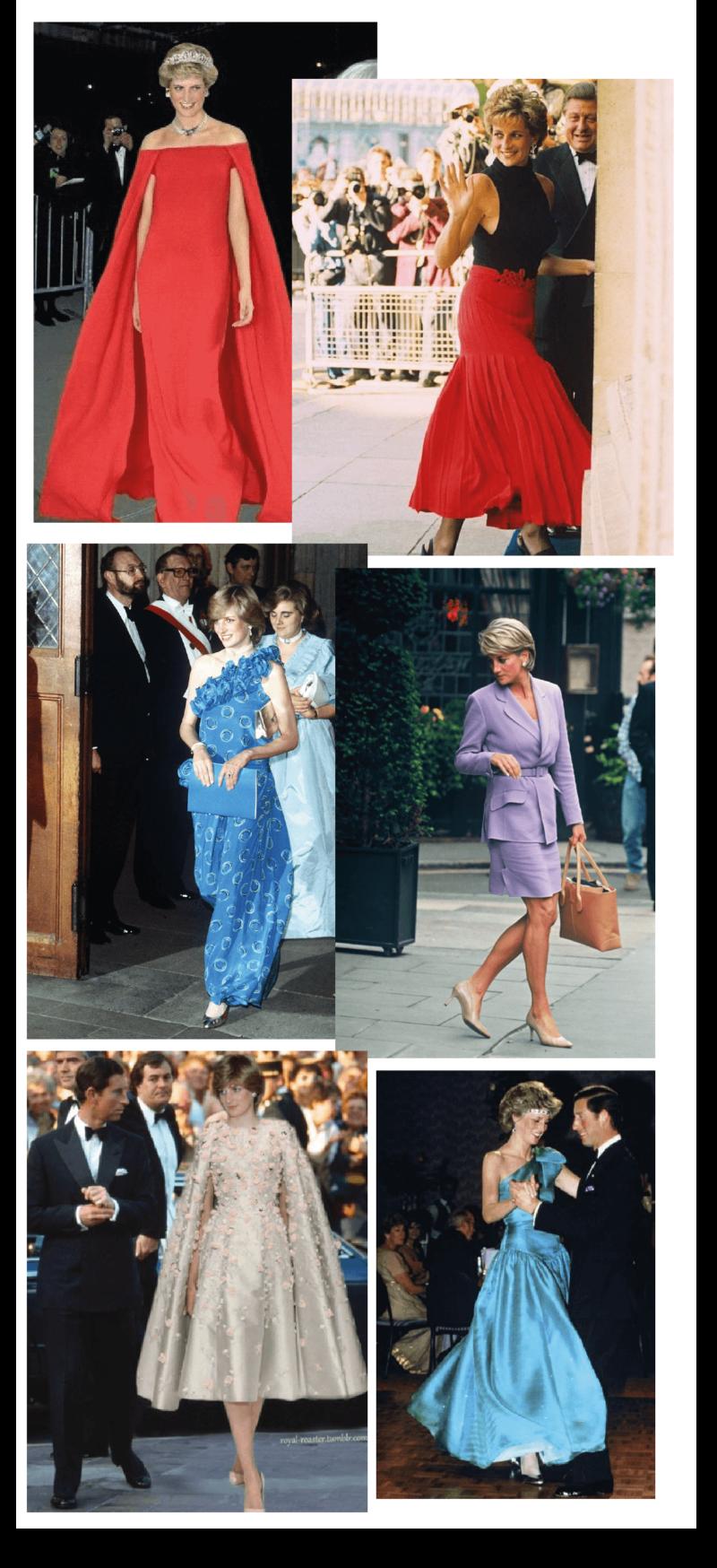 Looks icônicos de Princesa Diana - o legado de Lady Di