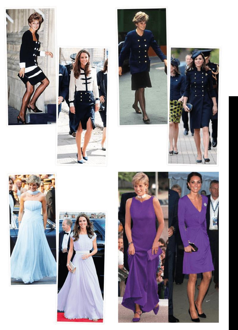 Raio x de kate middleton e Princesa Diana - o legado de Lady Di