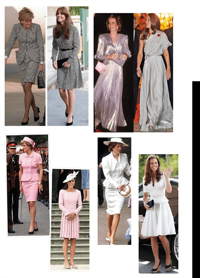 Raio x de estilo kate middleton e Princesa Diana - o legado de Lady Di