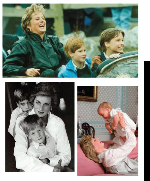 Princesa Diana e seus filhos - o legado de Lady Di