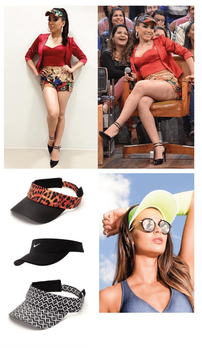 Anitta - acessório Fashion: viseira #amey
