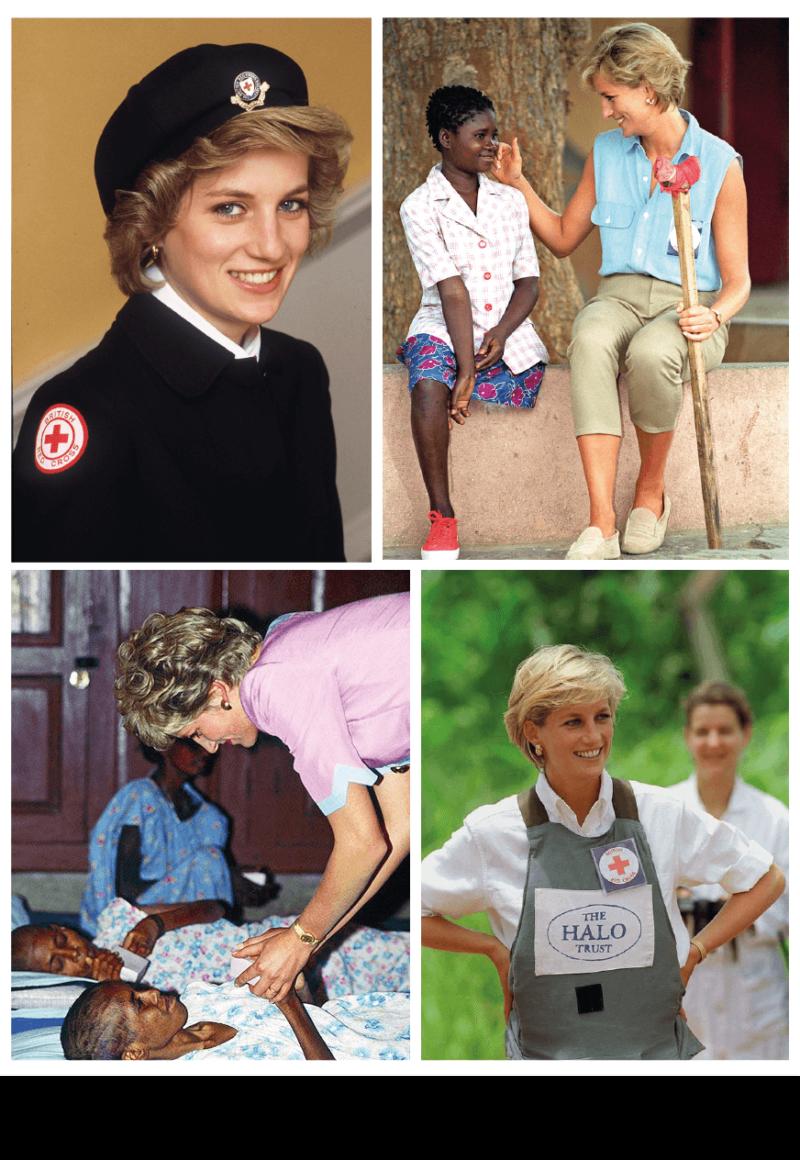 Trabalhos filantrópicos - o legado de Lady Di