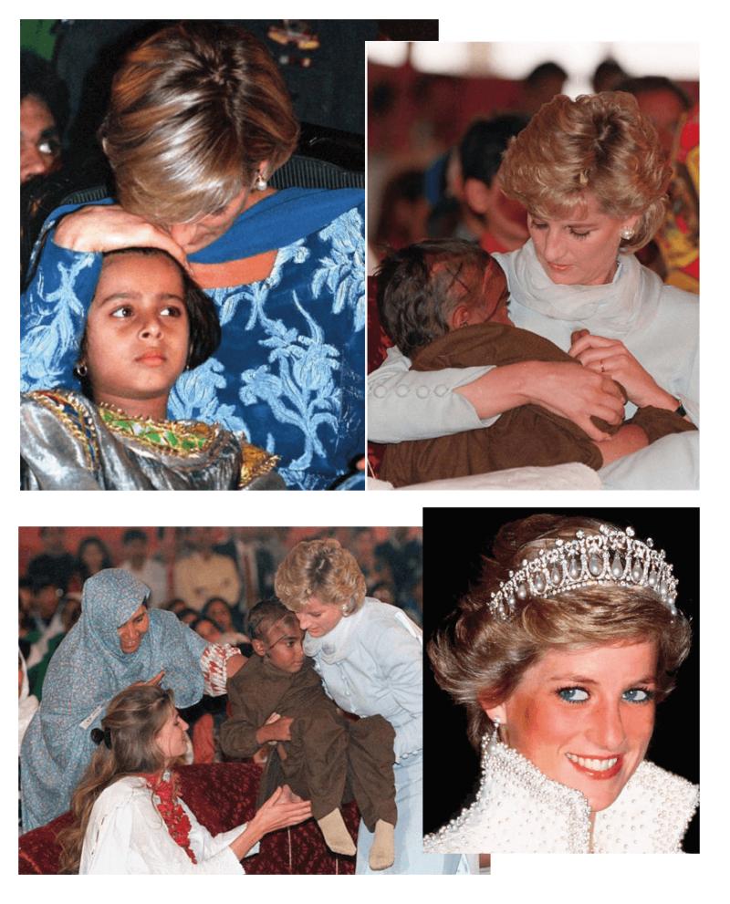 Trabalhos humanitários - o legado de Lady Di