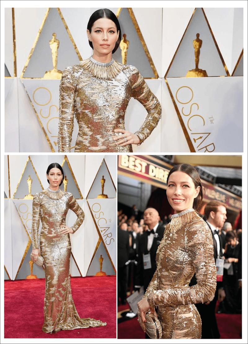 melhores looks do Oscar 2017 - Jessica Biel