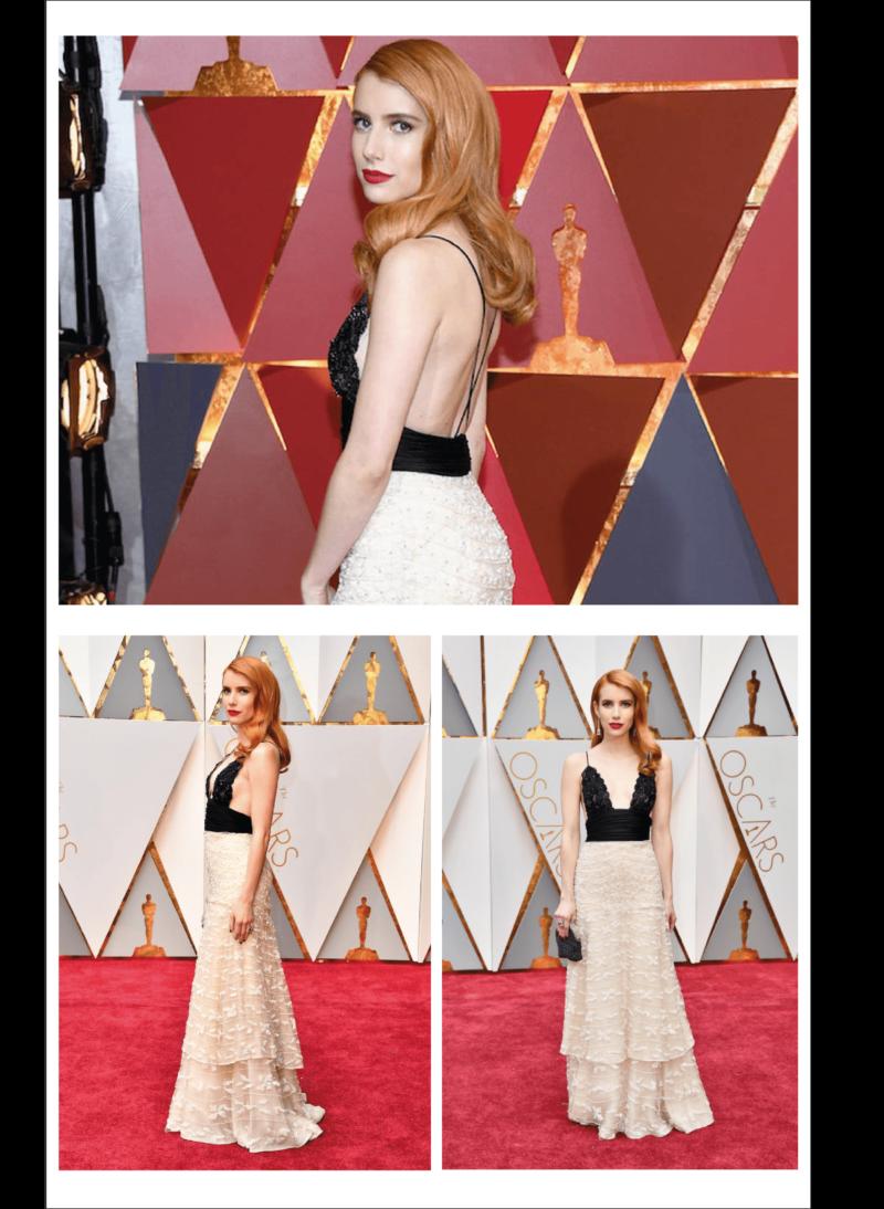 melhores looks do Oscar 2017 - Emma Roberts