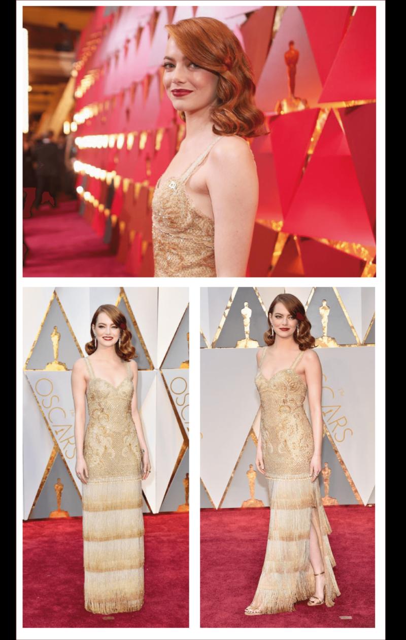 melhores looks do Oscar 2017 - Emma Stone