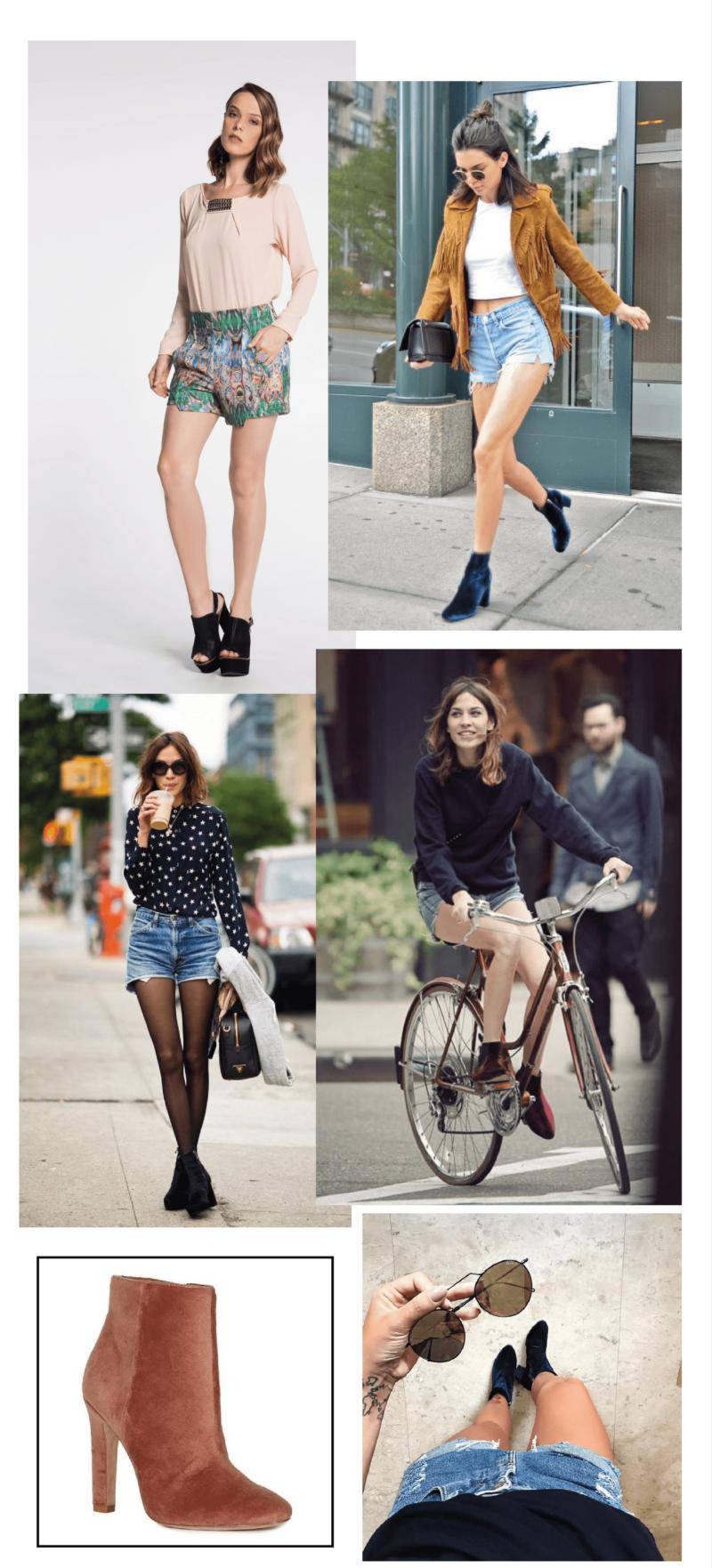 Amey-tendencia-Akle-Boots-Veludo-Shorts