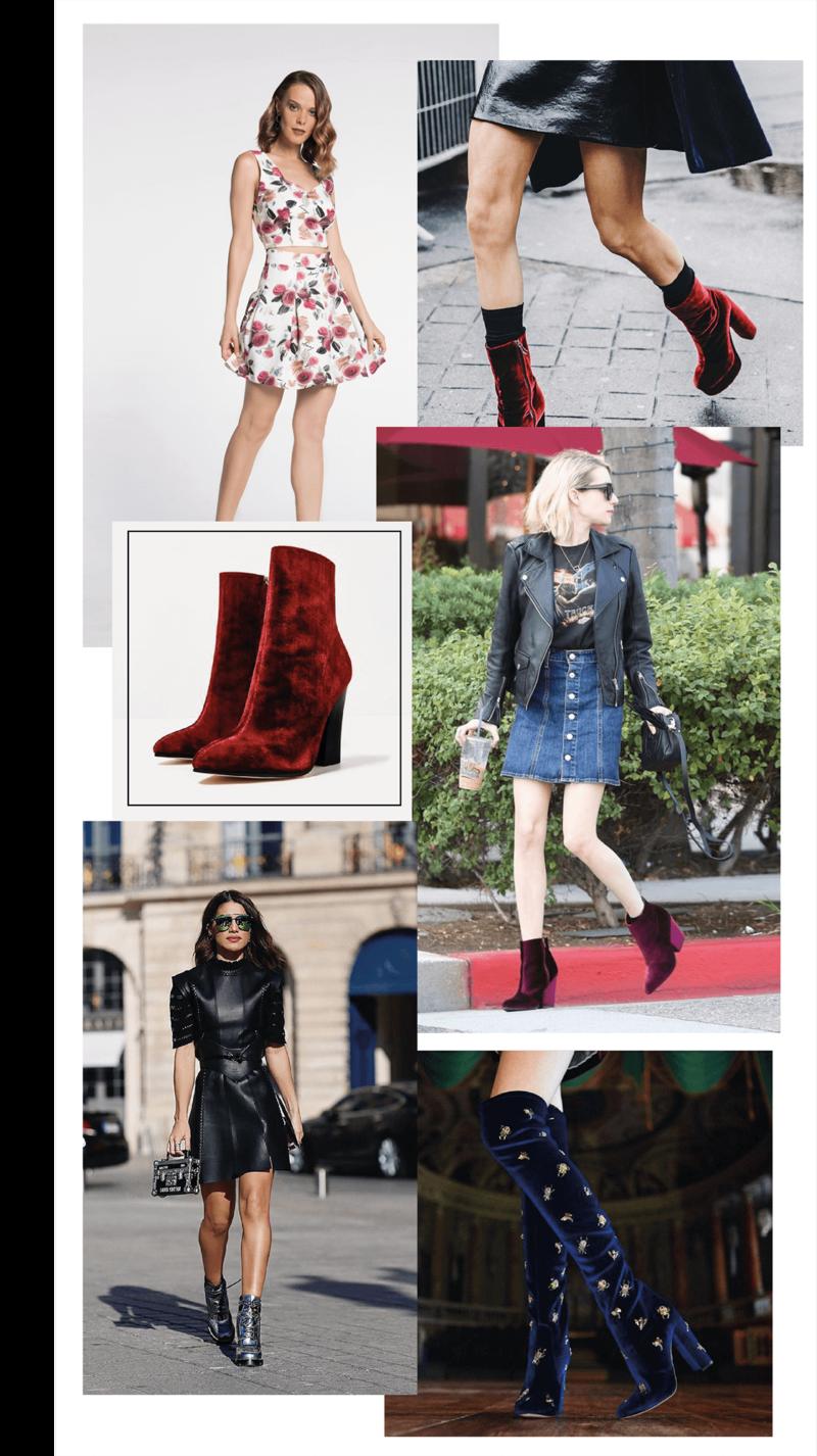 Amey-tendencia-Akle-Boots-Veludo-Vestido-Saias