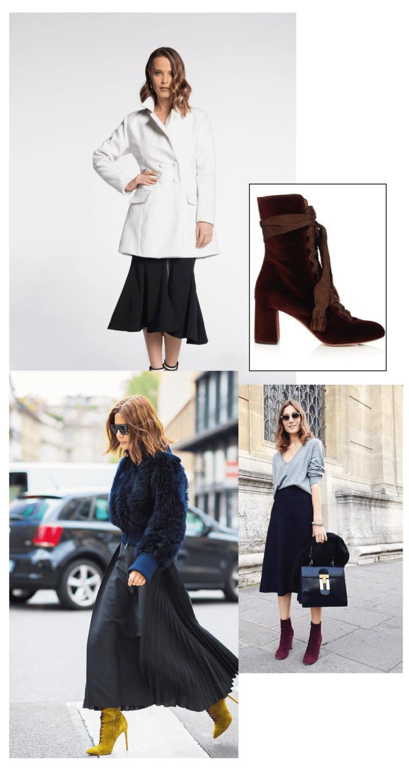 Amey-tendencia-Akle-Boots-Veludo-Vestido-Saia-Midi