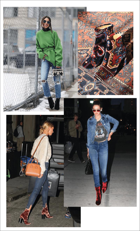 Amey-tendencia-Akle-Boots-Veludo-Vestido-Jeans
